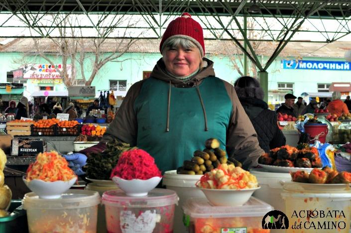 Vendedora del mercado, Tiraspol.