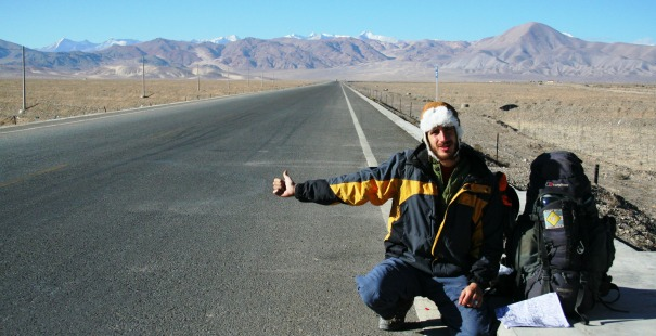 autostop en tibet
