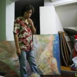 En casa de Rafael Seminario, pintor de Lima