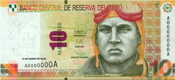 billete de diez soles