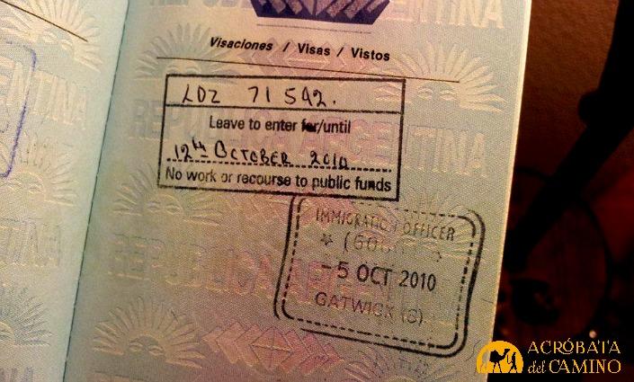 Permiso de sólo una semana para entrar a Inglaterra, por haber quedado ilegal en España.