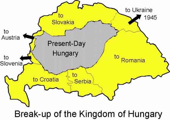 mapa tratado de trianon