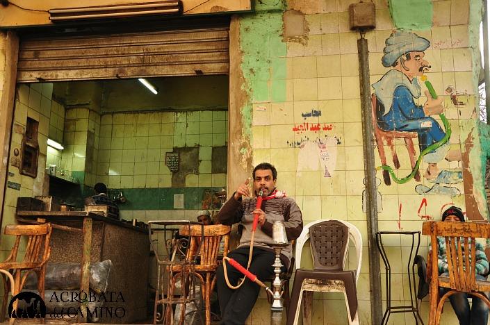 ... y terminamos un día en una ahwa de barrio cerca de Bab Zuweila.