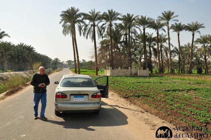 Mohammed, nuestro héroe local, quien de pura hospitalidad nos llevó en su auto a conocer Dahshur y Saqqara.