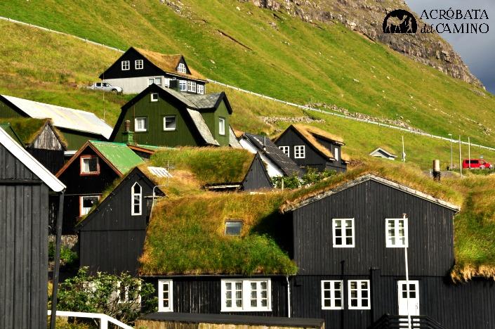 techos de hierba en feroe