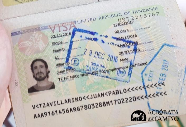 visado de tanzania