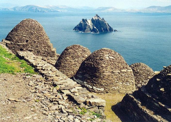 monasterio en la isla de Skellig