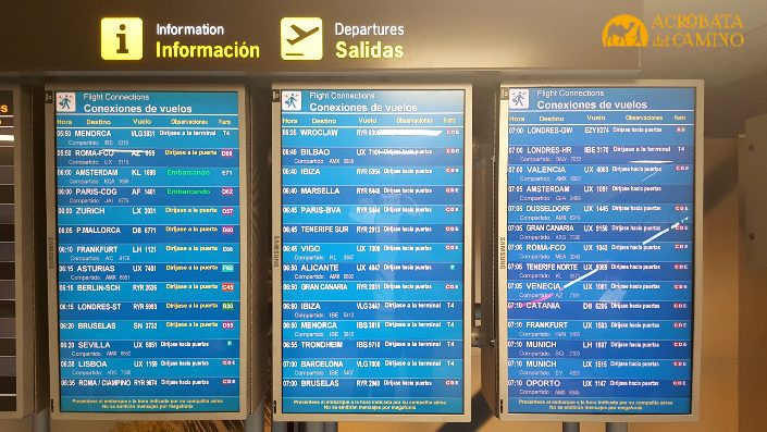 encontrar vuelos baratos cartel del aeropuerto