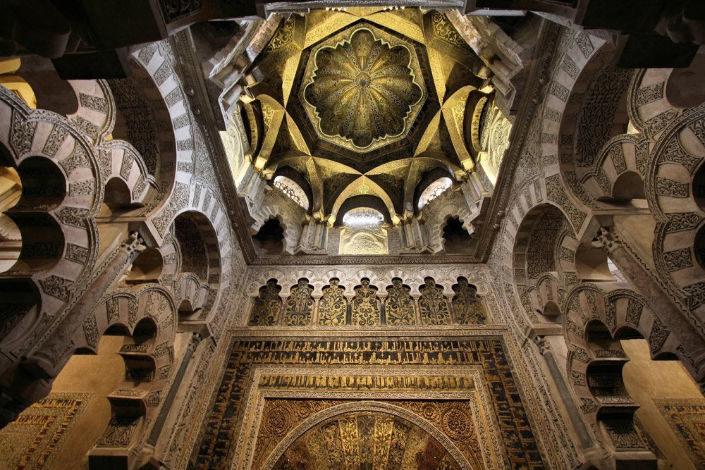 techo de la mezquita de córdoba