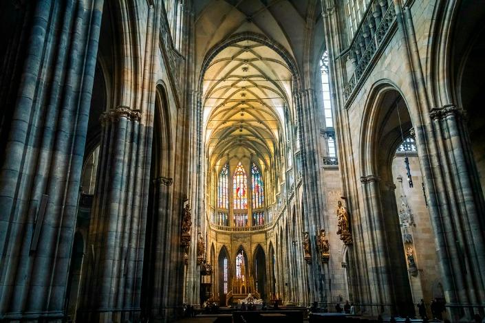 Praga en 3 días interior catedral de san vito