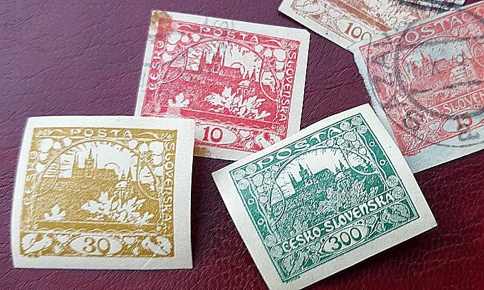 sellos postales castillo de praga