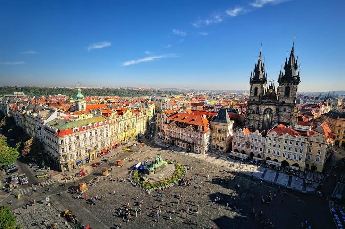 plaza de la ciudad vieja vista desde la Torre del Ayuntamiento