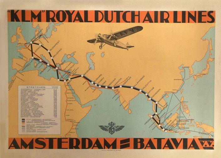 afiche antiguo de KLM