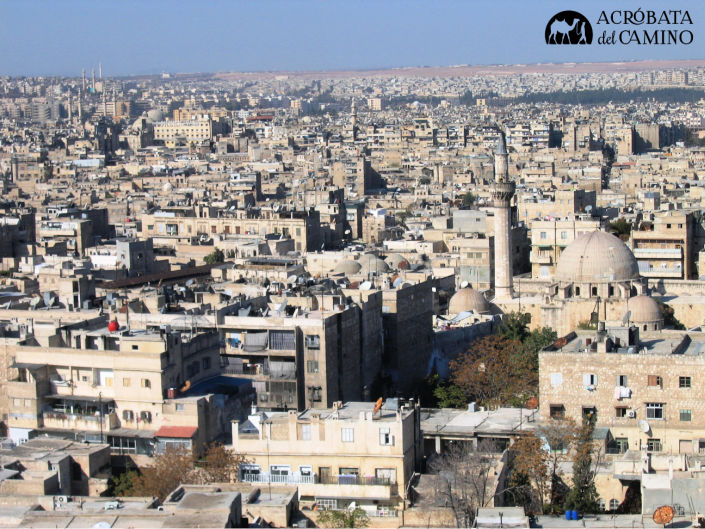 Vista de Alepo desde la fortaleza