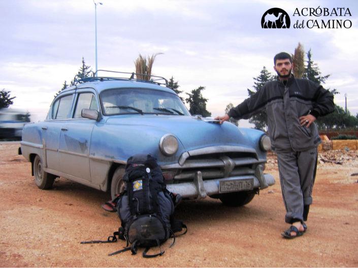 Conductor de De Soto 1954 en Siria
