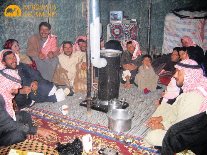 interior de una tienda beduina