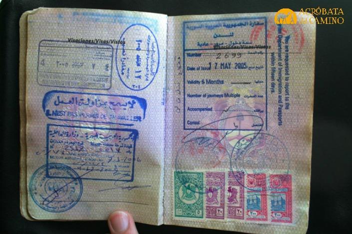 visa siria en pasaporte argentino