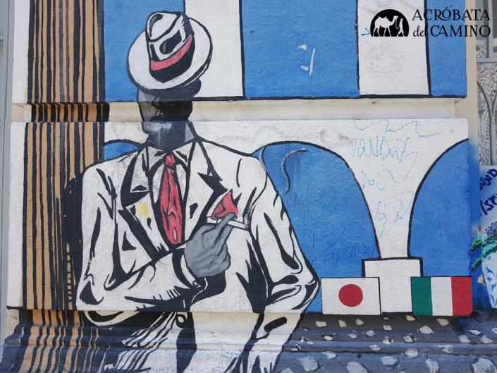 mural del malandro carioca en Lapa