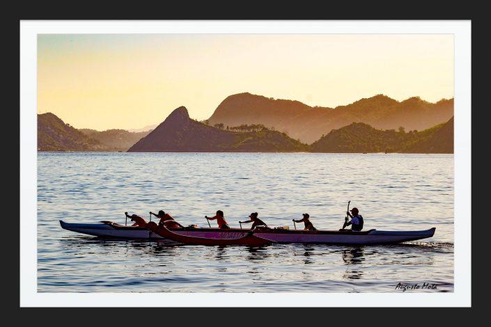 canoa hawaiana en rio de janeiro