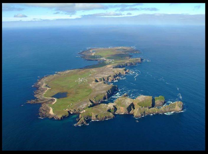 vista aerea de Tory Island