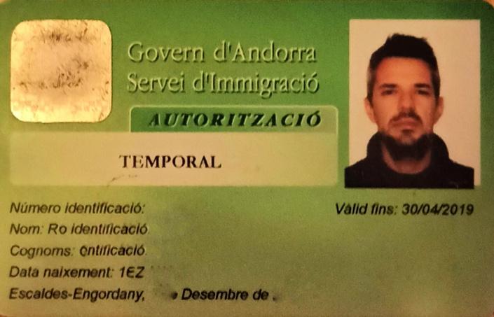 permiso temporal de trabajo Andorra