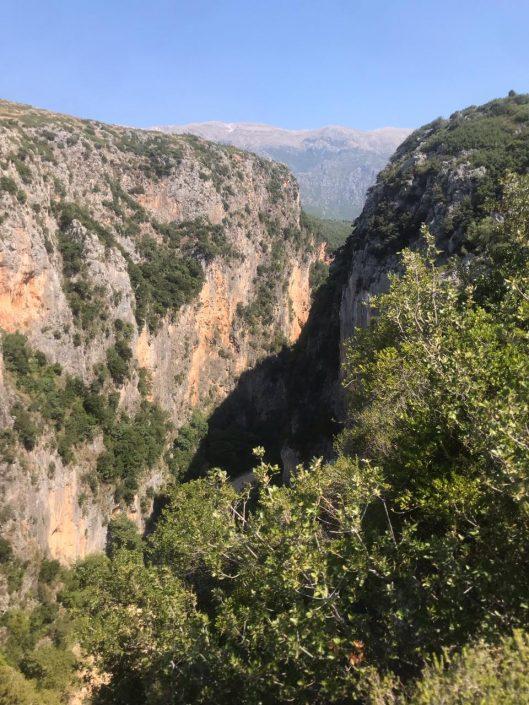 vista del cañón de Gjipe en Albania