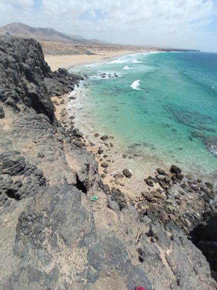 aguas verdes en playas El cotillo