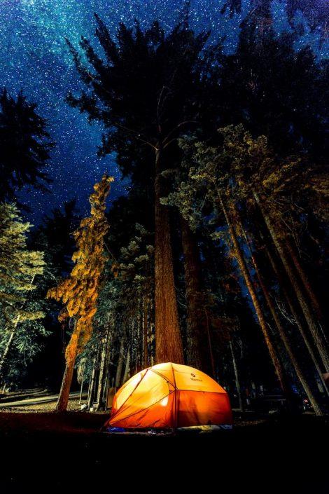 acampar en la naturaleza