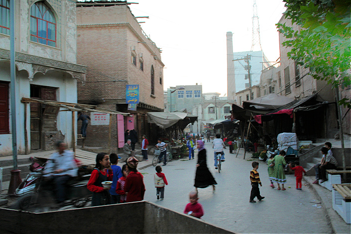 casco historico de kashgar demolicion china
