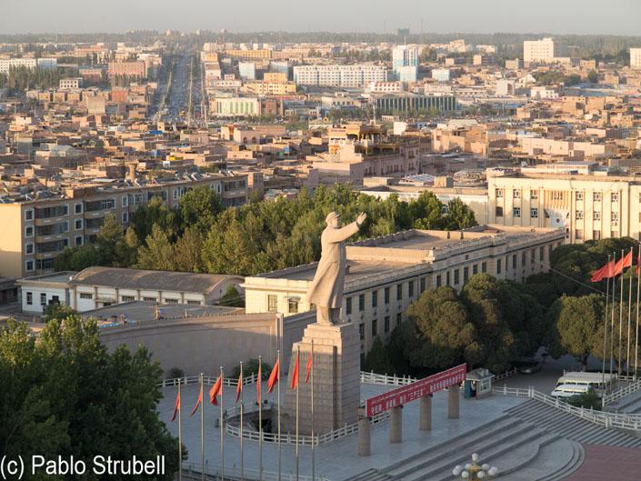 vista aerea de kashgar