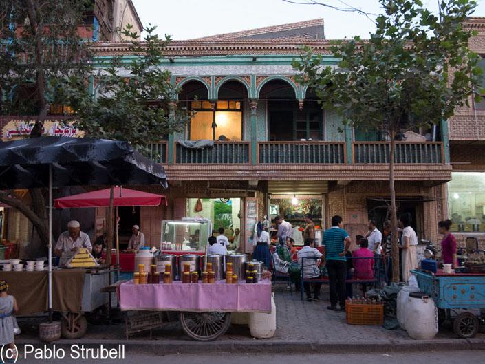 bazar en kashgar uigur