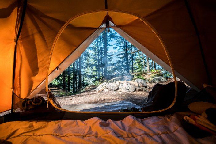 vacaciones acampando en Europa